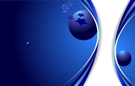 Blue business background. Vector illustration Vector