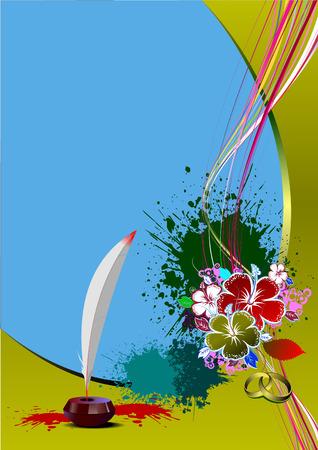 Invitation wedding card. Vector illustration Stock Vector - 5237690