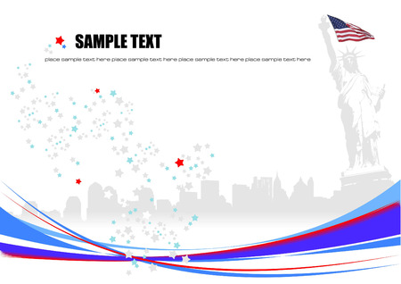 American image background. Vector illustration Vector