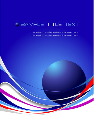Blue abstract background. Vector illustration Vector