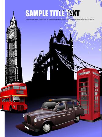 Londres imágenes de fondo. Ilustración vectorial Ilustración de vector