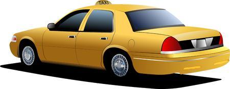 Nueva York taxi amarillo. Vector illustration Ilustración de vector