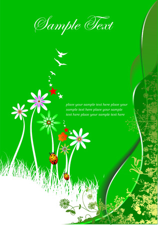 Summer green background. Vector illustration Vector