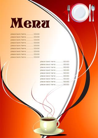 Restaurant (cafe) menu. Vector illustration Stock Vector - 5456041