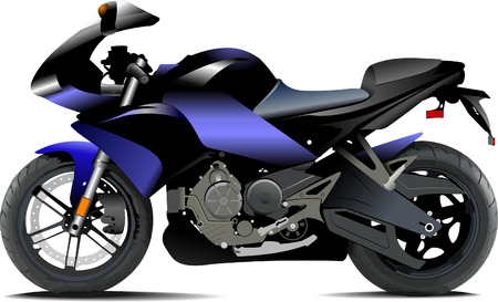 Sketch of modern motorcycle. Vector illustration Vector