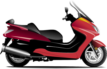 Sketch of city motorcycle. Scooter. Vector illustration Vector