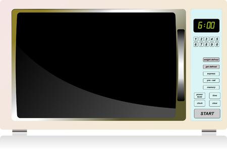 microwave oven: Equipamiento de cocina. Horno de microondas. Ilustraci�n vectorial