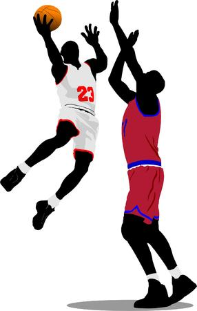 Basketball players. Vector illustration Stock Vector - 5742461