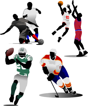 Four kinds of team sport game. Vector illustration Stock Vector - 5742485