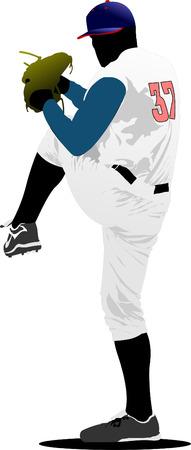 Baseball player. Vector illustration Stock Vector - 5742462