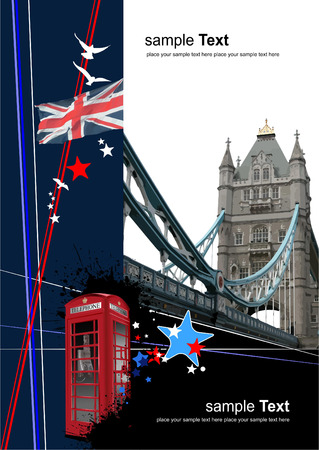 ausflug: Abdeckung f�r Brosch�re mit London-Bilder. Vektor-illustration  Illustration