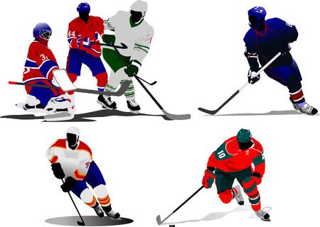 Ice hockey players. Vector illustration Vector
