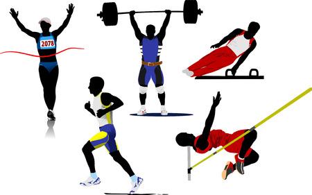 Siluetas de deporte Atlético. Ilustración vectorial