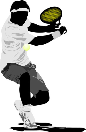Tennis player.  illustration Vector