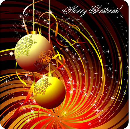 Christmas - New Year background. Vector Stock Vector - 6533327