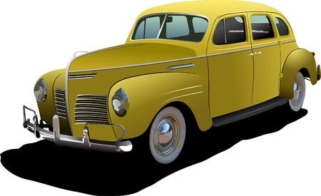 cushy: 1950s Luxury Coupe on isolated background. Vector illustration