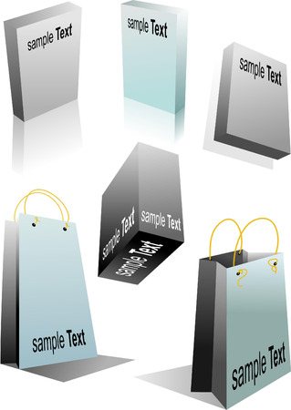 Blank 3d boxes ready to use in your designs. Vector