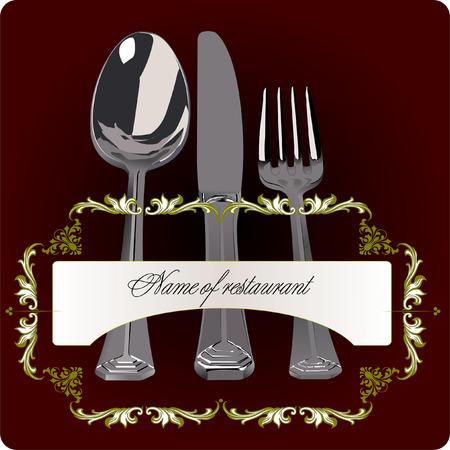 fine dining: Vintage Menu cover.