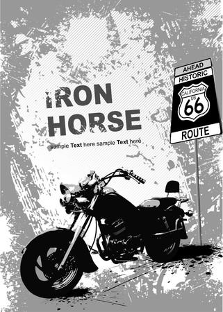 casco moto: Fondo de grunge gris con la imagen de la motocicleta