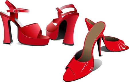 Two pairs of Fashion women shoes Stock Vector - 7217249