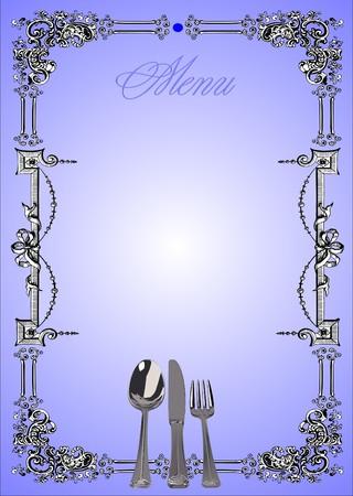 serviette: Restaurant (cafe) menu