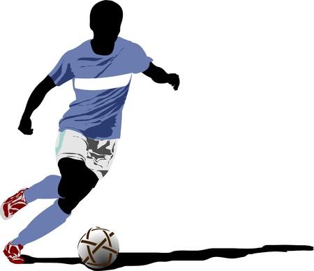 male feet: Soccer player Illustration