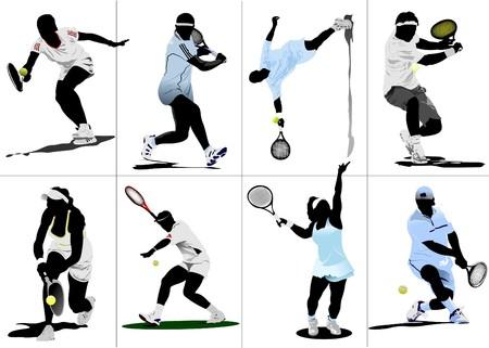 atp: Tennis player Illustration