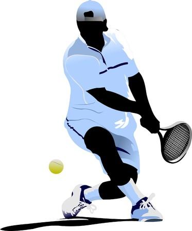 tennis player: Tennis player Illustration