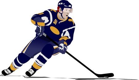 hockey players: Ice hockey player Illustration