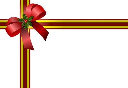 Red Christmas Bogen. Farbige Vektor-illustration  Standard-Bild - 7267964