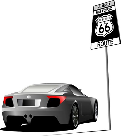 66: Cover for brochure with route 66 image.