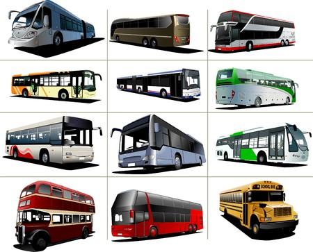 ausflug: Zw�lf Arten von Stadtbusse.   Abbildung