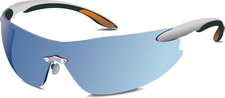 eyewear glasses: Wrap-Around Sunglasses: Selection of cool sunglasses.  illustration