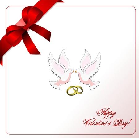 envelope decoration: Sobres con cinta azul esquina y palomas.  Vectores