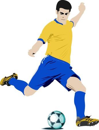 arquero: Jugadores de f�tbol. Ilustraci�n color para dise�adores