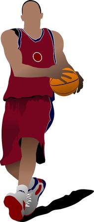 Basketball players.   illustration Vector