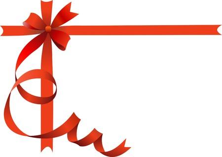 moños navideños: Arco festivo sobre fondo aislado con lugar para el texto.