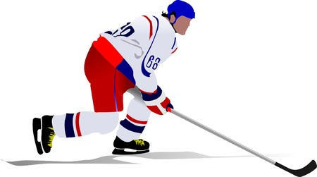 Ice hockey players.   illustration Vector