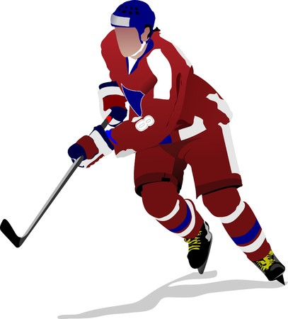 Ice hockey players.   illustration