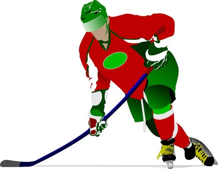 Ice hockey players.  illustration Stock Vector - 7797604