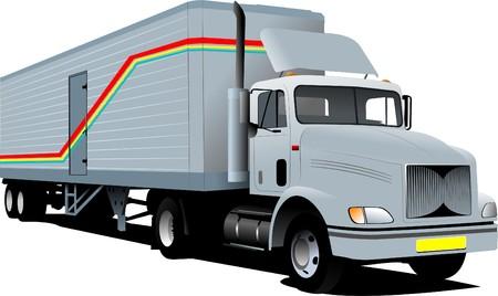 transporter:  illustration of truck Illustration