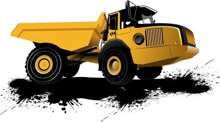 dumper: Isolated dump truck.  illustration