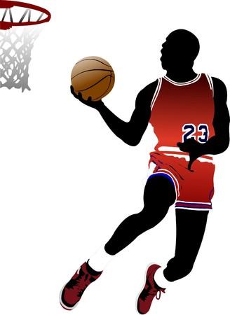 Basketball players.  illustration Stock Vector - 7912614