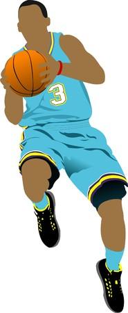 Basketball players  illustration Vector