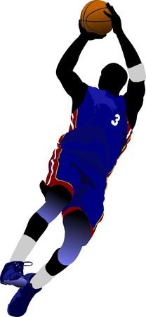 Basketball players.  illustration Stock Vector - 7912612