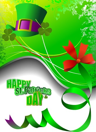 Vector of green hats and shamrocks for St. Patrick's Day Stock Vector - 7912646
