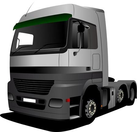 Vector illustration of green truck Vector
