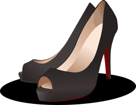 Fashion woman shoes. Vector illustration Vector
