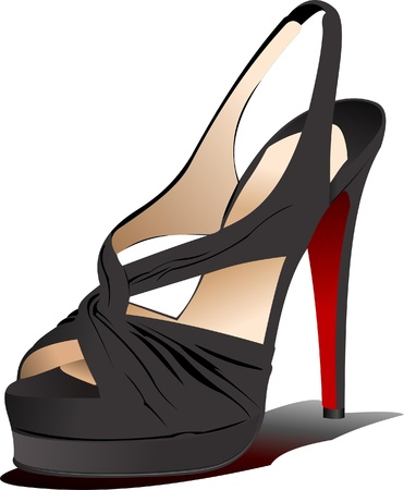 Fashion woman shoes. Vector illustration Stock Vector - 8474241