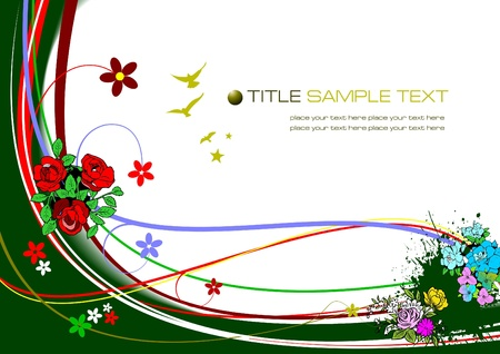 Floral spring background. Vector illustration Vector